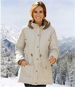 Women's Cream Parka Coat