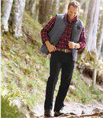 Kalhoty Regular ze strečového kepru preview2
