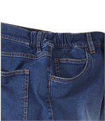 Niebieskie sprane wygodne dżinsy ze stretchem preview3