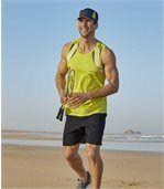 Pack of 2 Men's Microfibre Summer Shorts - Grey Navy