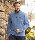 Pack of 2 Men's Wild Country Microfleece Jumpers- Black Blue