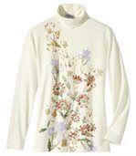 Krásny pulóver s kvetinami