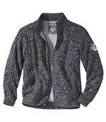 Pletený sveter s flísovou podšívkou