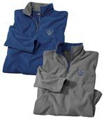 2er-Pack Poloshirts aus Microfleece preview1