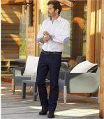 Modré strečové džíny rovného střihu Regular preview2