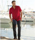 Čierne strečové džínsy Regular