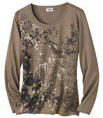 Langarmshirt mit Blumenmotiv preview2