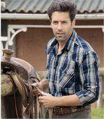 Kockovaná košeľa Western preview1
