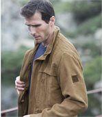 Men's Camel Faux Suede Safari Jacket