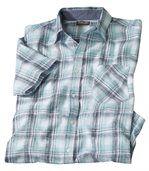 Kariertes Hemd aus Leinen und Baumwolle