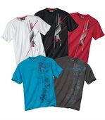 Pack of 5 Men's Essential T-Shirts preview1