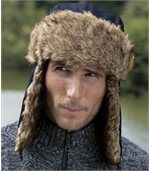Men's Navy Blue Winter Weather Ushanka preview1