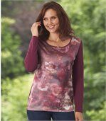 Langarmshirt mit floralem Muster preview1