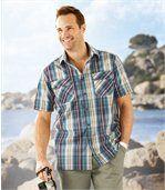 Pestrobarevná kostkovaná košile preview1