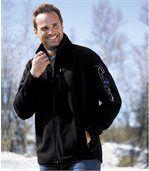 Men's Black Zip-Up Fleece Jacket preview1
