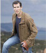 Safari-Jacke in Wildlederoptik mit vielen Taschen preview3