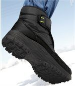 Men's Black Sherpa-Lined Winter Boots
