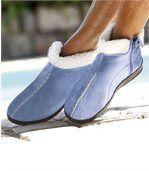 Hoge pantoffels met rits preview2