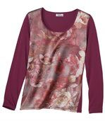 Langarmshirt mit floralem Muster preview2