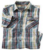 Pestrobarevná kostkovaná košile preview2