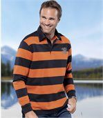 Men's Striped Polo Shirt preview1
