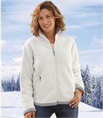 Women's Ecru Sherpa-Lined Fleece Jacket preview1