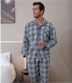 Geruite flanellen pyjama preview1