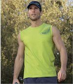 Pack of 3 Men's Running Vests - White Blue Green preview2