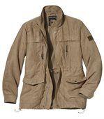 Safari-Jacke in Wildlederoptik mit vielen Taschen preview1