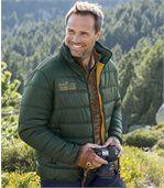 Men's Green Padded Winter Coat