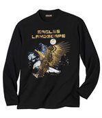 Men's Black Long Sleeve Top - Eagles Landscape  preview2