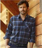 Men's Checked Flannel Shirt - Cotton - Original Explorer  preview1
