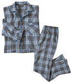 Geruite flanellen pyjama preview2
