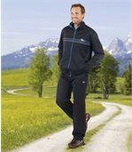 Men's Navy Blue Ultra-Comfort Tracksuit - Brushed Fleece Polycotton