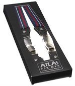 Men's Blue and Red Striped Braces preview2