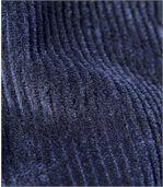 Spodnie z weluru z elastyczną talią preview2
