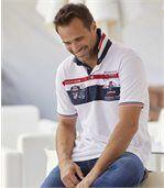 Men's White Yachting Club Piqué Polo Shirt preview1