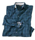 Men's Blue City Lake Checked Flannel Shirt