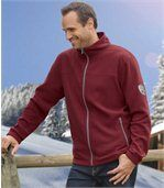 Pack of 2 Men's Microfleece Jackets - Black Dark Red  preview2
