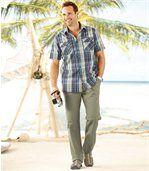 Béžové volnočasové kalhoty preview2