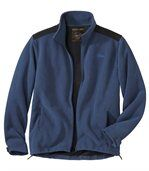 Men's Blue Zip-Up Jacket - Fleece preview2