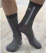 Sada 4 PÁRŮ ponožek s barevnými pruhy preview2