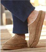 Papuče z imitácie semišu s umelou kožušinou vnútri preview2