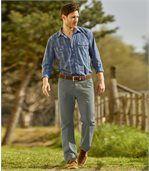 2 plátěné kalhoty
