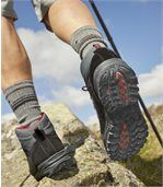 Men's Black & Grey Mountain Walking Boots