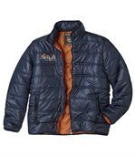 Men's Blue Quilted Winter Jacket