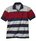 Sportovní pruhované polo tričko TransMed