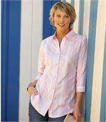 Długa koszula Pink Stripes preview2