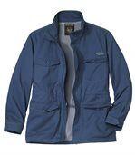 Men's Blue Twill Summer Safari Jacket