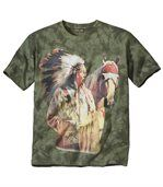 Tee-Shirt Tie and Dye Indian Chief